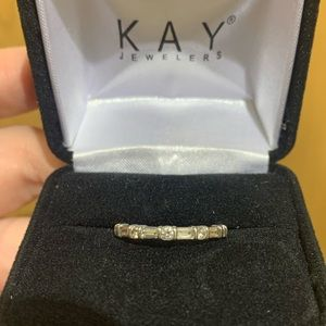 Diamond anniversary band 1/3 ct tw 14k white gold